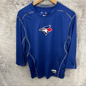 Nike Blue Jays Hypercool Fitted Combat Shirt